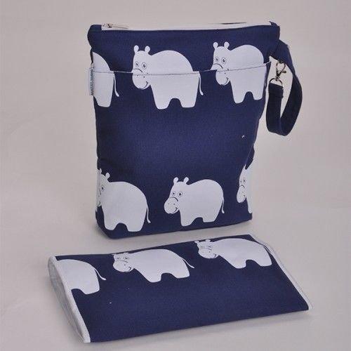 Bambino Baby Changing Bag & Mat Diaper Bag Mummy Bag (Hippo) Barefoot Bambino