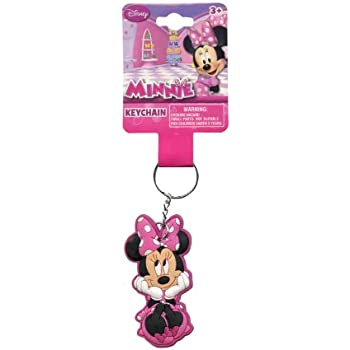Amazon.com: Disney Minnie Mouse Keychain Metal Plate Key ...