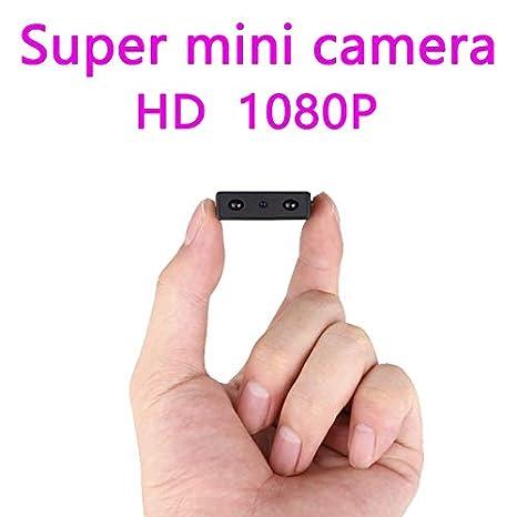 Mini cámara más pequeña 1080P Full HD IR videocámara ...