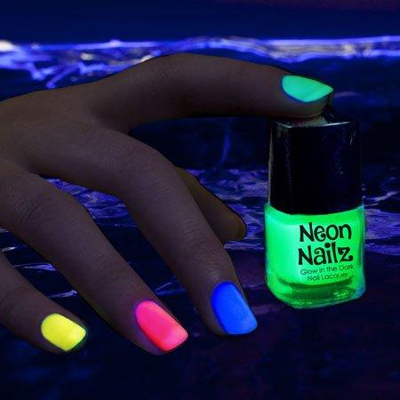partylights novedad fiesta Diversión Novedad brilla en la oscuridad), neón esmalte de uñas: Verde