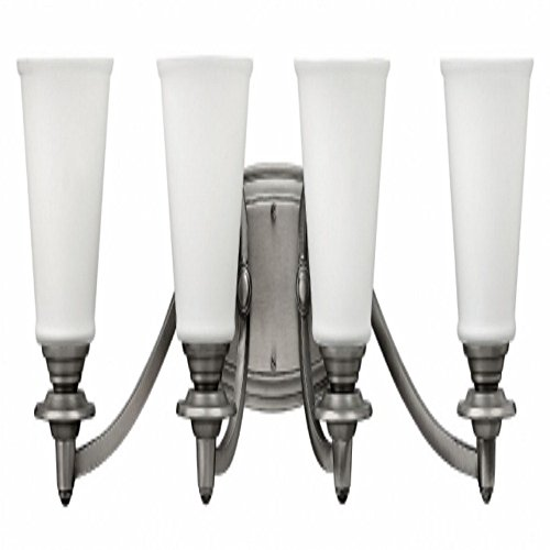 Hinkley 54264PL Traditional Four Light Bath from Plymouth collection in Pwt, Nckl, B/S, Slvr.finish,