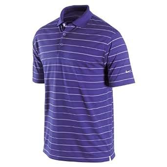 NIKE Men's Tech Core Stripe Golf Polo Shirt, Varsity Purple, Small