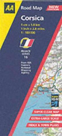 Corsica (AA Road Map France)