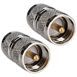 DHT Electronics RF coaxial coax adapter UHF male to male PL-259 connector Pack of 2