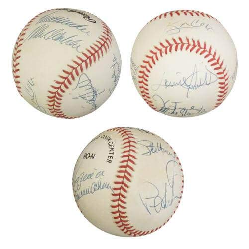 1995 Atlanta Braves World Series Partial Team Autographed Signed Auto Baseball 10 Signatures - Certified Authentic