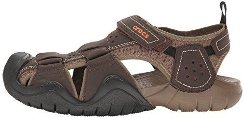 5349a486eb3 Crocs Men s Swiftwater Leather M Fisherman Sandal
