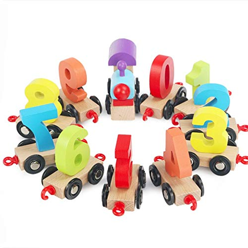 Diecasts Toy Vehicles lot Funny Wooden Toy for Kids Number Digital Train Early Children Education Boy Girl Environmental Protection Wood Toy from Tini