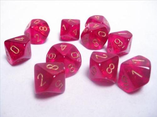 dice sets borealis magenta
