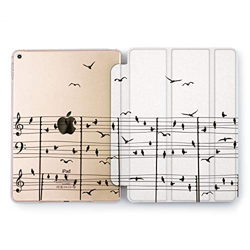 Wonder Wild Musical Birds Apple iPad Pro Case 9.7 11 inch Mini 1 2 3 4 Air 2 10.5 12.9 2018 2017 Design 5th 6th Gen Clear Smart Hard Cover Treble Clef Musician Monochrome Minimalism Animals Artist]()