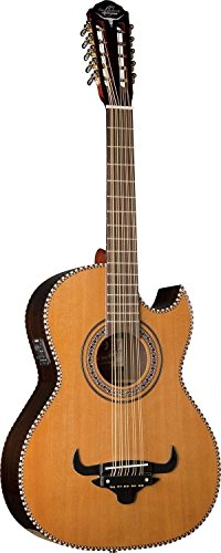 Oscar Schmidt OH32SE Acoustic-Electric Bajo Quinto with Deluxe Gig Bag - Natural