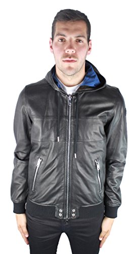 Diesel L-Collins 900 Herren Leather Jacket Schwarz