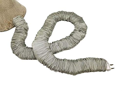 Gold / Golden Lamp Cord Cover Faux Silk 9 ft longDiscount Shipping with 2+ Covers - 2' Cord Cover