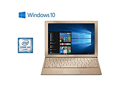 "Samsung Galaxy TabPro S Convertible 2-in-1 Laptop / Tablet, 12"" FHD+ Touchscreen - Intel Core m3-6Y30 - 8GB DDR3 Memory - 256GB SSD - Windows 10 - Bluetooth - Webcam - Gold (Keyboard Included)"