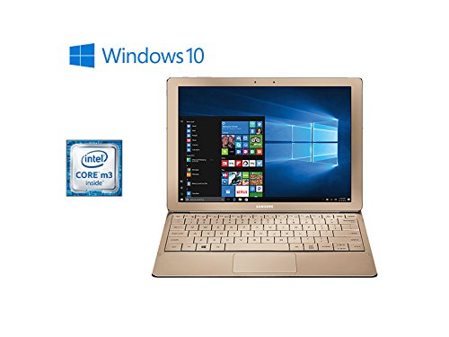 Samsung-Galaxy-TabPro-S-Convertible-2-in-1-Laptop-Tablet-12-FHD-Touchscreen-Intel-Core-m3-6Y30-8GB-DDR3-Memory-256GB-SSD-Windows-10-Bluetooth-Webcam-Gold-Keyboard-Included