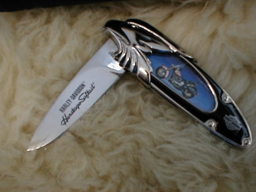 Harley-davidson Heritage Softail Knife (Franklin Mint Folding Knife)