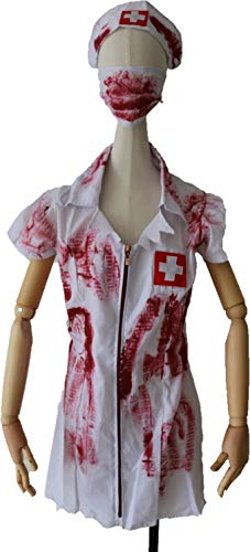 M and H Hong Kong M&H Women and Girl's Bloody Nurse Costumes