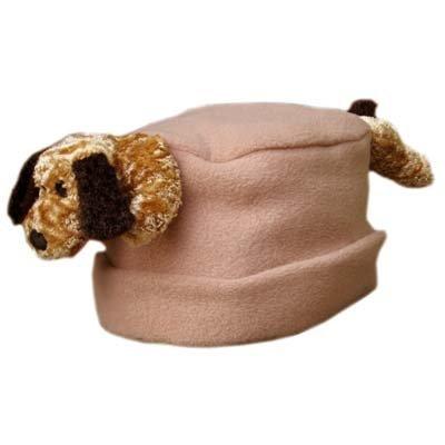 Small BearHands FHS-FLD-CAM S Hat Fleece Floppy Ear Dog on Camel