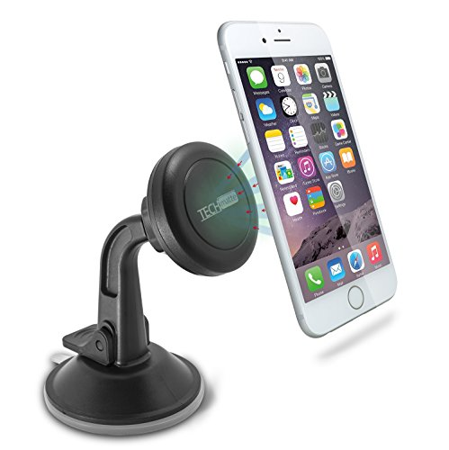 TechMatte Car Phone Mount Magnetic | Dashboard Mounted Car Phone Holder | Universal Smartphone Compatibility with...