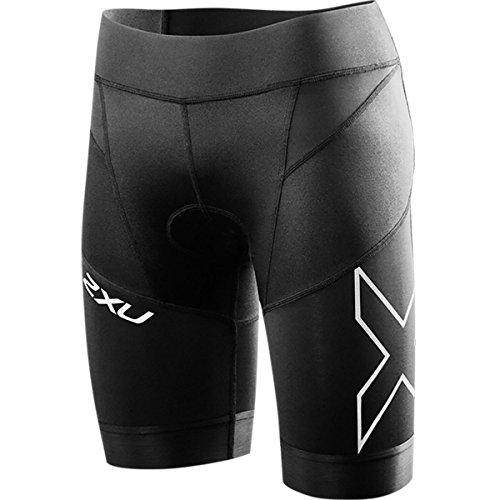 2XU Women's Elite Compression Tri Shorts, Medium, Black/Black