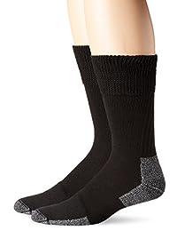 Dr. Scholl's mens Diabetic and Circulatory Work 2 Pack Crew Sock