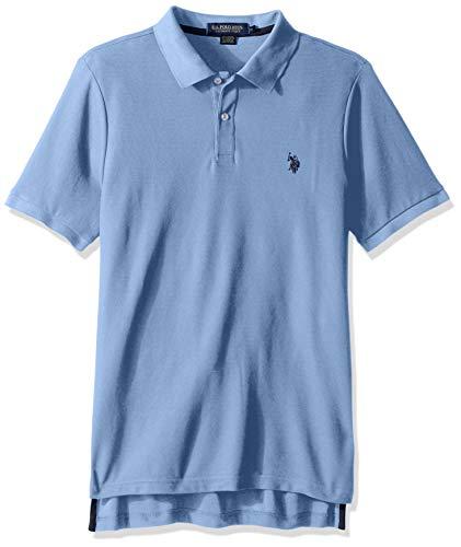 Pique Polo Shirt Collar - U.S. Polo Assn. Men's Ultimate Pique Polo, Evian Blue, M