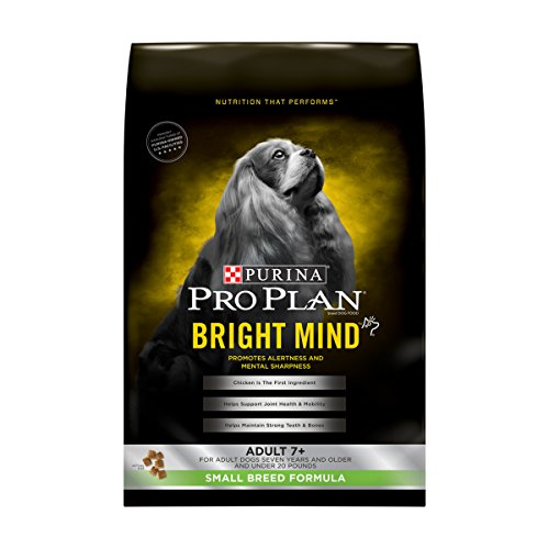 Purina Pro Plan BRIGHT MIND Adult 7+ Small Breed Formula Senior Dry Food - (1) 5 lb. Bag