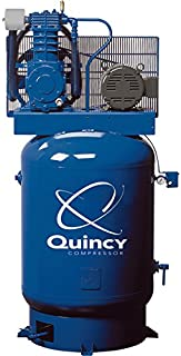 product image for Quincy QT-10 Splash Lubricated Reciprocating Air Compressor with MAX Package - 10 HP, 460 Volt, 3 Phase, 120 Gallon Vertical, Model Number P2103DS12VCB46M