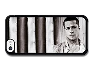 AMAF ? Accessories Brad Pitt Serious Actor Portrait case for iPhone 5C