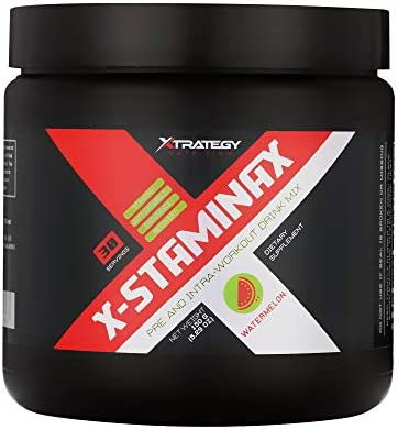 PRE and Intra Workout X-STAMINAX Watermelon XTRATEGY Nutrition Drink Mix Stamina Anti CATABOLIC Endurance Recovery