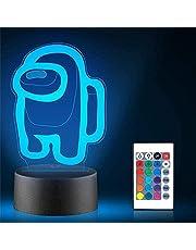 3D LED-lampa Among Game US gåva automatisk byte illusionslampa bordsdekor lampa för barn pojkar flickor