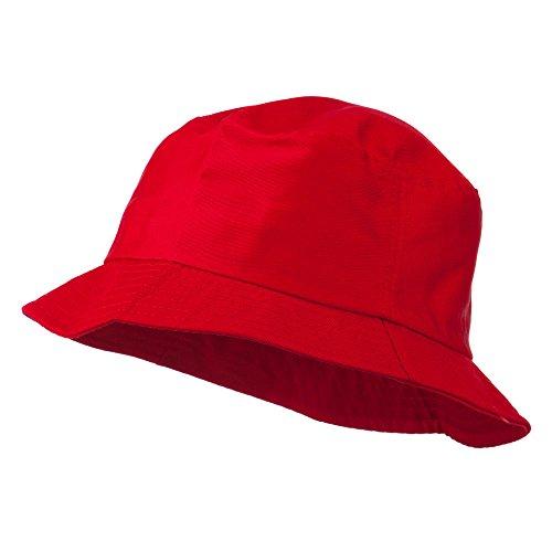 Plain Cotton Twill Bucket Hat - Red L