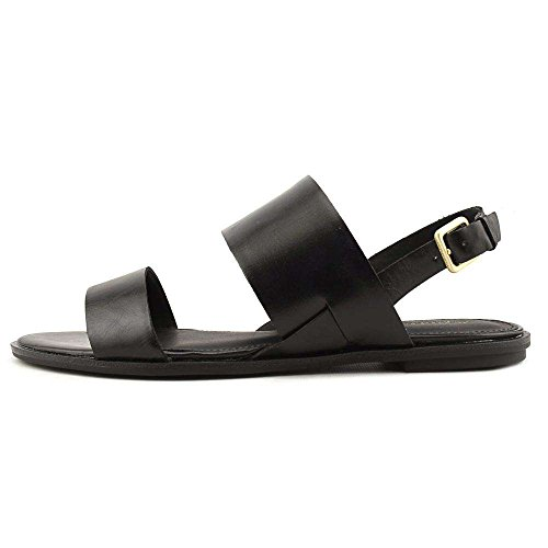 Calvin Klein Womens Uni Open Toe Casual Slingback Sandals, Black, Size 6.0