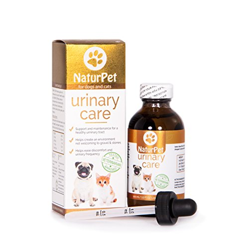 NaturPet Urinary Care | 100% Natural Urinary Tract Support for Cats | Urinary Tract Support for Dogs |Gravel & Stones | 100 mL 3.3 oz