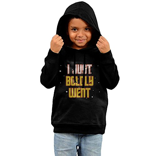 ZheuO Boys & Girls Toddler I Just Boldly Went Funny Hoodie Hoodies 4 Toddler Black