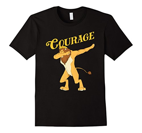 Mens Cowardly Lion Dab T-Shirt - The Wizard Of Oz TShirt -Courage 3XL (The Lion From The Wizard Of Oz)