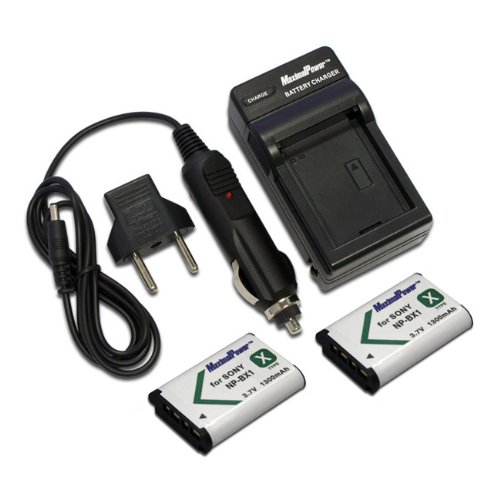 Maximal PowerFC500 Replacement Battery for SON BX1+DB, SON NP-BX1x2FC500 and SON 2BX1(Black) (Np Bx 1 Battery)