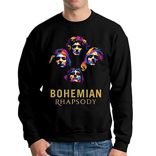 - THORP.JENELLE Bohemian The Rhapsody Rock Music Custom Men's Round Neck Sweater