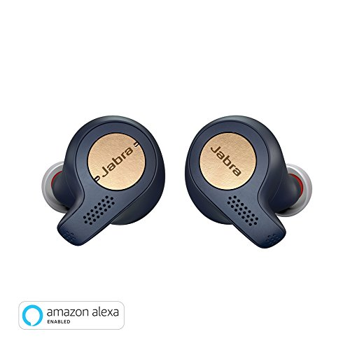 Fit Active Earbuds - Jabra Elite Active 65t Alexa Enabled True Wireless Sports Earbuds with Charging Case  – Copper Blue