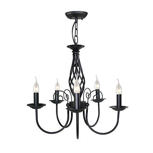 LALUZ Small Antique Chandeliers 5-light Pendant Lighting