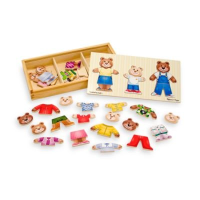 bear family dress up puzzle - 5