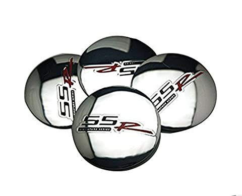 4pcs D115 Silver 56.5mm Car Emblem Badge Sticker Wheel Hub Caps Centre Cover SS R SIGNATURE SERIES for CHEVROLET - Fender Replacement Speaker