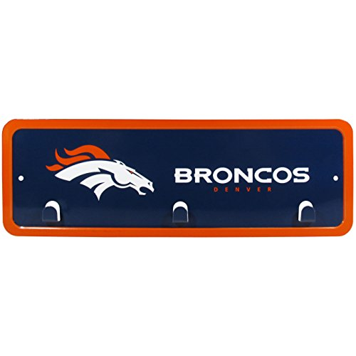 NFL Denver Broncos Metal Key Rack, 3 (Broncos Office Accessories)