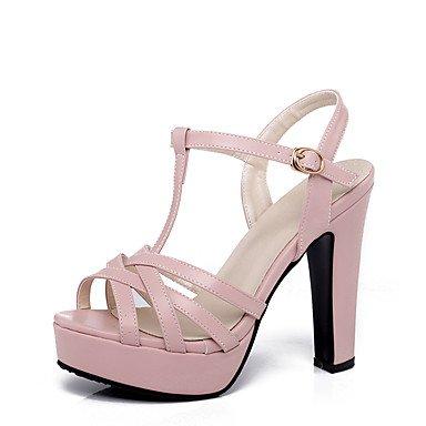 LFNLYX Sandalias mujer Primavera Verano Otoño otros PU Parte & vestido de noche casual Chunky talón otros Beige Blanco Rosa Negro Pink