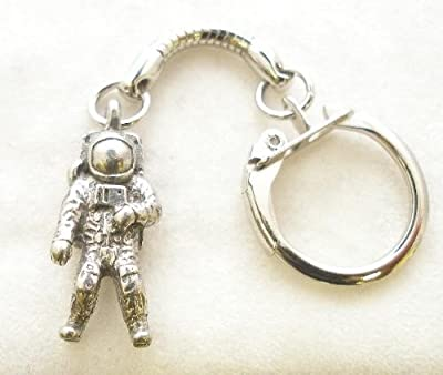 Solid Pewter Astronaut Keychain