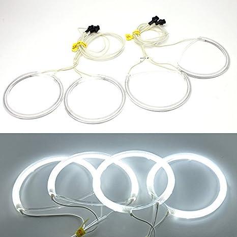FOR 04-08 Mazda 3 Sedan Hatchback 7000k White CCFL Angel Eyes Halo Ring Kit