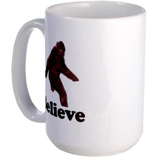 Bigfoot T-shirts. Believe. Large Mug Large Mug by CafePress