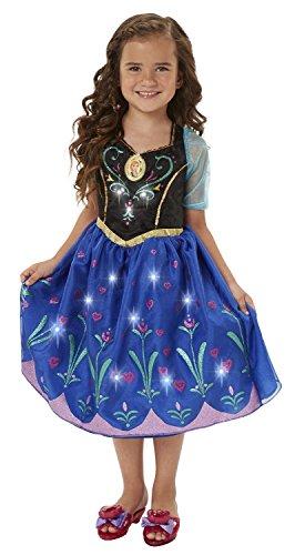Maven Gifts: Disney Frozen Charm Necklace, Tiara & Wand Set with Anna Dress