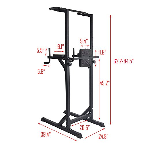 Livebest Heavy Duty Fitness Power Tower Multi-Function Strength Training Workout Dip Station Work Out Equipment for Home Gym by Livebest (Image #2)