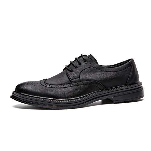 Calzados Hombres Zapatos Black Mocasines Cómodos De Negros Trabajo Para Mocasín Puntiagudos Casuales xnnRqHtZ