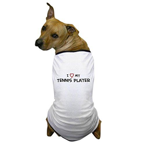 CafePress - I Love Tennis Player Dog T-Shirt - Dog T-Shirt, Pet Clothing, Funny Dog Costume (Tennis Player Costumes)